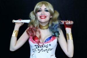 Косплей Харли Квин отряд самоубийц (Cosplay Harley Quinn Suicide Squad)