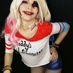 Косплей на хэллоуин Харли Квин отряд самоубийц (Cosplay halloween Harley Quinn Suicide Squad)