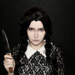 Косплей Уэнзди Аддамс ( cosplay Wednesday Addams) addams family