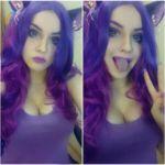 Образ фиолетовая девушка (Purple girl)